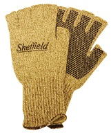 Sheffield wool gloves fingerless no dot