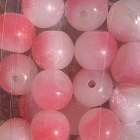 cac pink roe glass bead